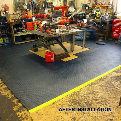 Greatmats plastic tiles garage workshop