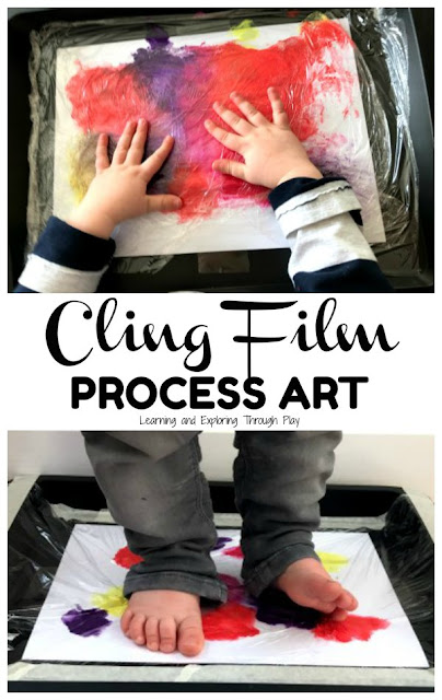 Cling Film Process Art