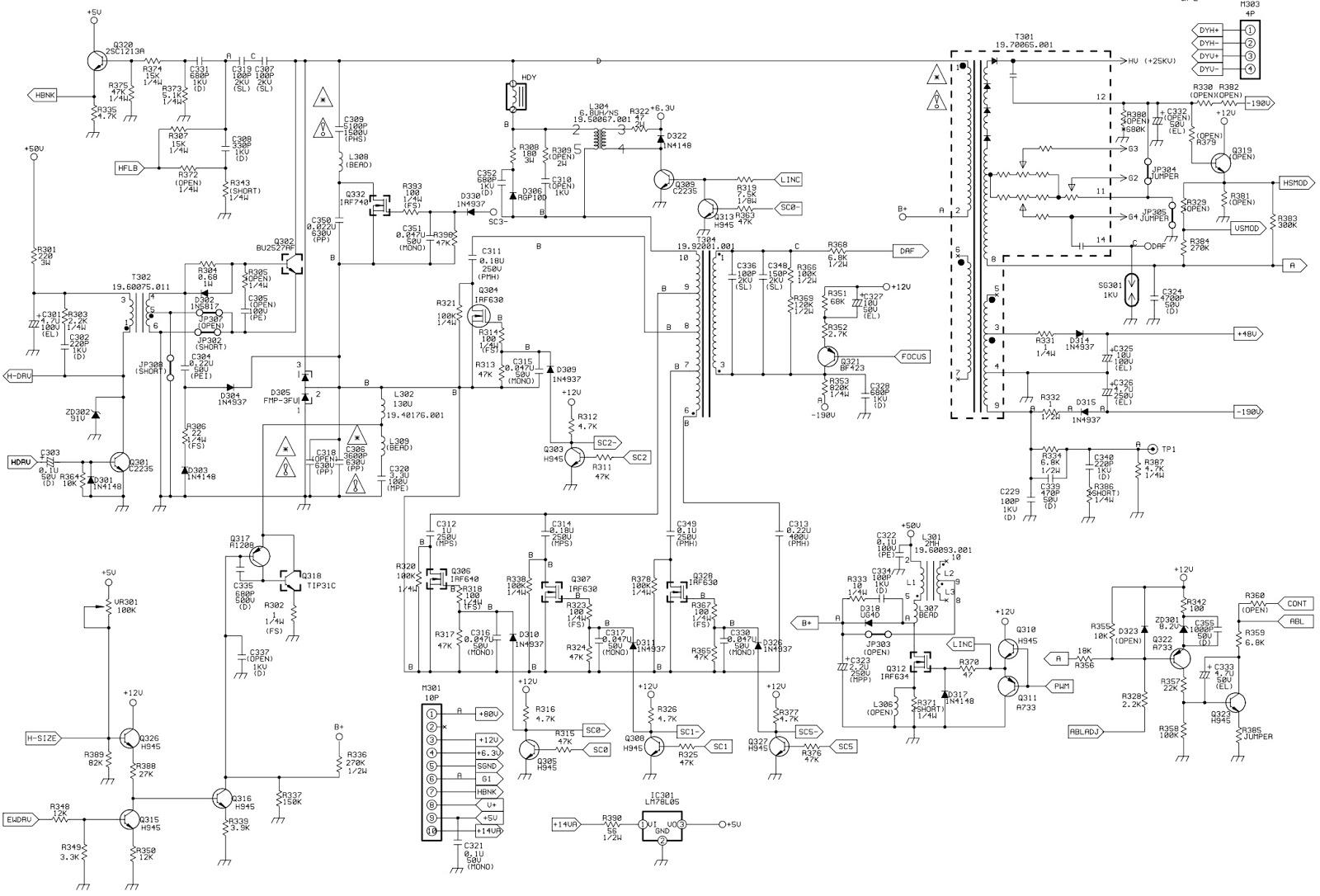 crt monitor circuit diagram