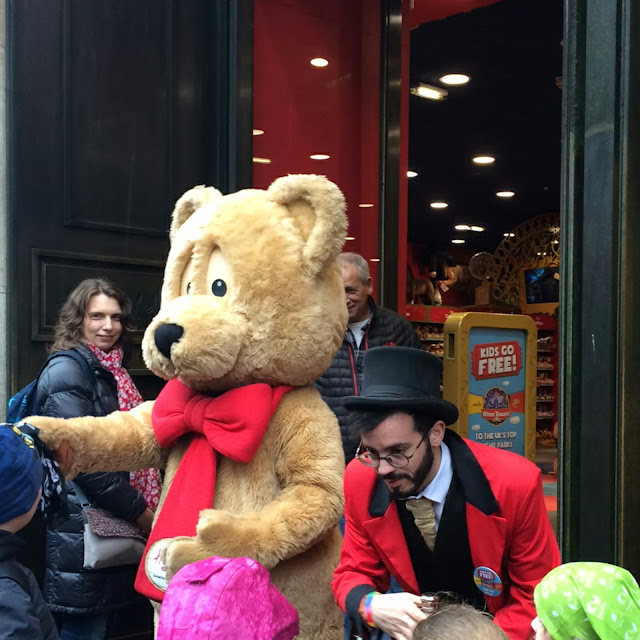 Outside hamleys at opening time