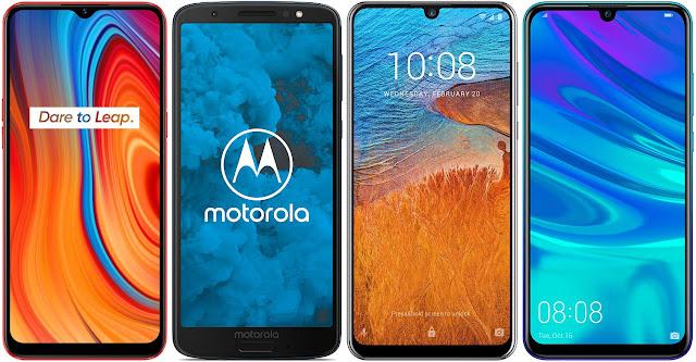 Realme C3 vs Motorola Moto G6 vs ZTE Blade V10 vs Huawei P Smart 2019