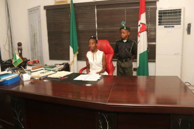 Miss Joy Chikamnayo Resumes as the new Governor of Abia state