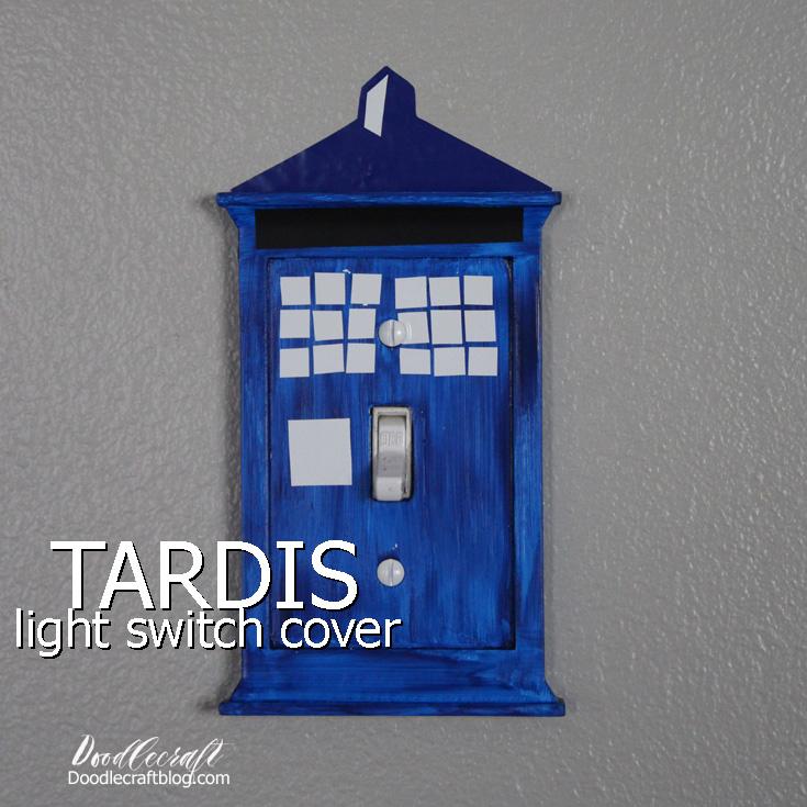 Doodlecraft Tardis Light Switch Cover
