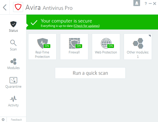 Avira Antivirus Pro 2020 Full Protection