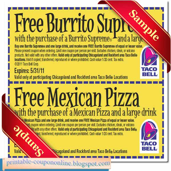 photo relating to Taco Bell Printable Coupons identify Taco bell discount coupons printable