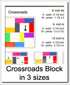 Block - Crossroads in 3 different sizes