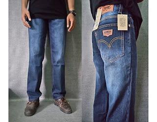 celana jeans, celana jeans standar pria, celana jeans pria biru dongker