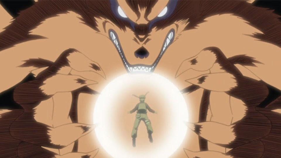 Kurama y Naruto