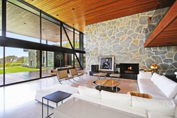 Fotos de salas con paredes de piedra salas con estilo - Color piedra paredes ...
