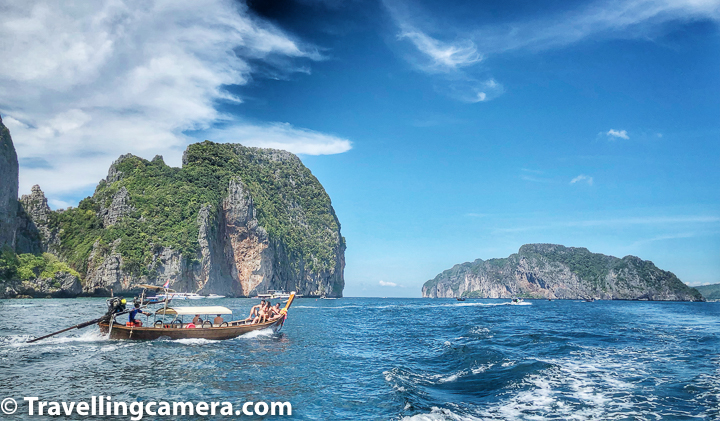 Main Island Clusters around Phuket :     1. Koh Phi Phi Islands :    It will not be an exaggeration if I say that Phi Phi is most popular island around Phuket and actually there are 2 islands which share Phi Phi :      Phi Phi Don  Phi Phi Leh     Above is not hard for Indians to remember - Don is very popular bollywood movie and Leh is a hot tourist destination in North India where many bollywood movies are shot.     Phi Phi Don is popular for it's all-night parties and beautiful beaches.    Phi Phi Lee has 100m-tall limestone cliffs on three sides hosts several tiny beaches which disappear during high tides.      Close by there is Pileh Lagoon which offers an unbeatable swimming experience in crystal clear waters with colourful fish below the water's surface.