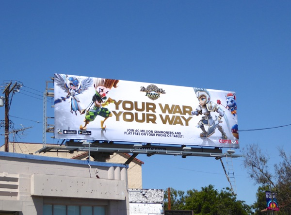 Summoners War Your war way 2016 billboard