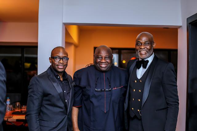 Mo Abudu, Don Jazzy, Kate Henshaw, AY, Emmanuel Uduaghan, Dele Momodu & more celebrate RMD at exclusive dinner in Lagos