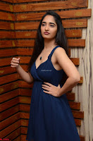 Radhika Mehrotra in a Deep neck Sleeveless Blue Dress at Mirchi Music Awards South 2017 ~  Exclusive Celebrities Galleries 046.jpg