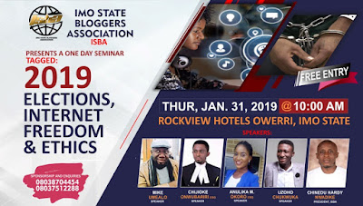 Imo State Bloggers Hold Seminar On 2019 Election, Internet Freedom
