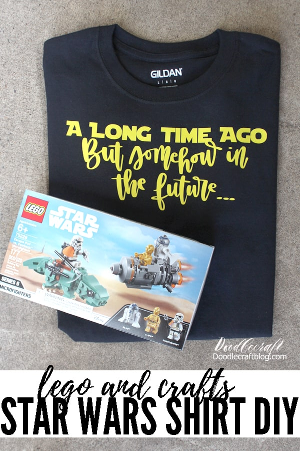 Make a funny Star Wars themed shirt with yellow SportsFlex iron-on vinyl and Cricut Maker.