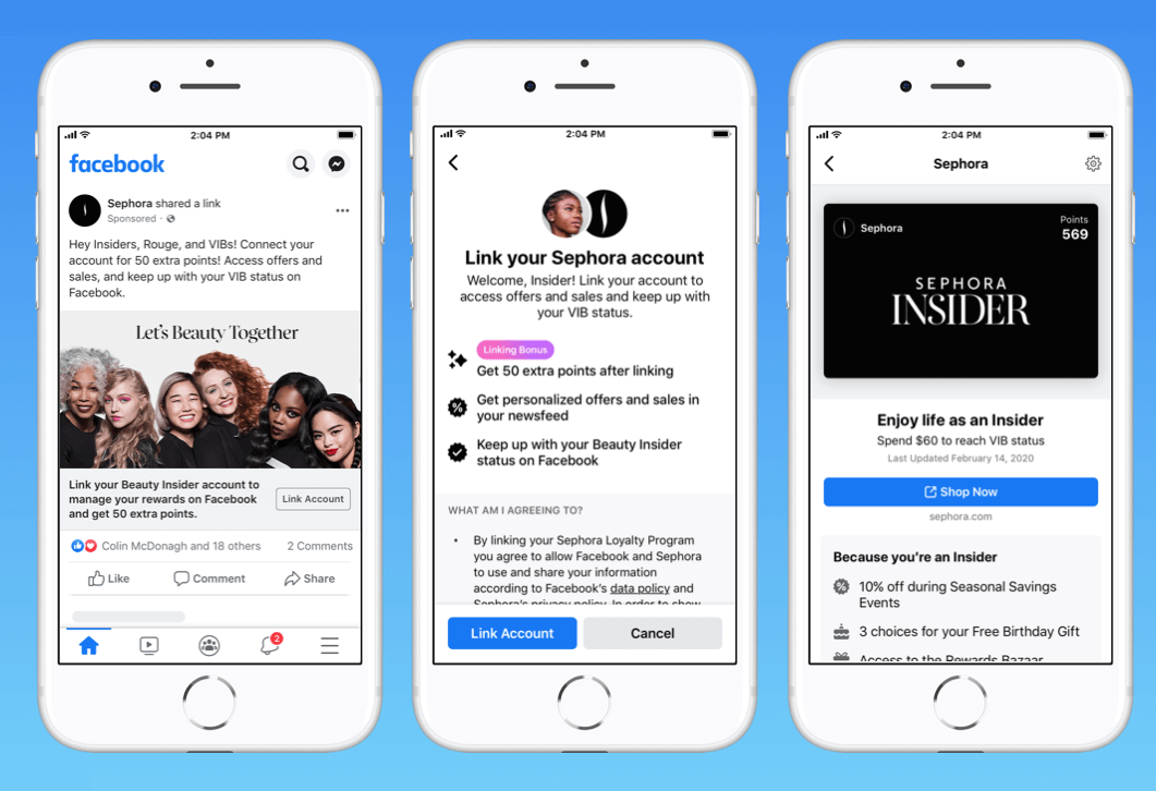 Facebook's New Program Will Let Users Link Their Brand Loyalty Accounts To Facebook App