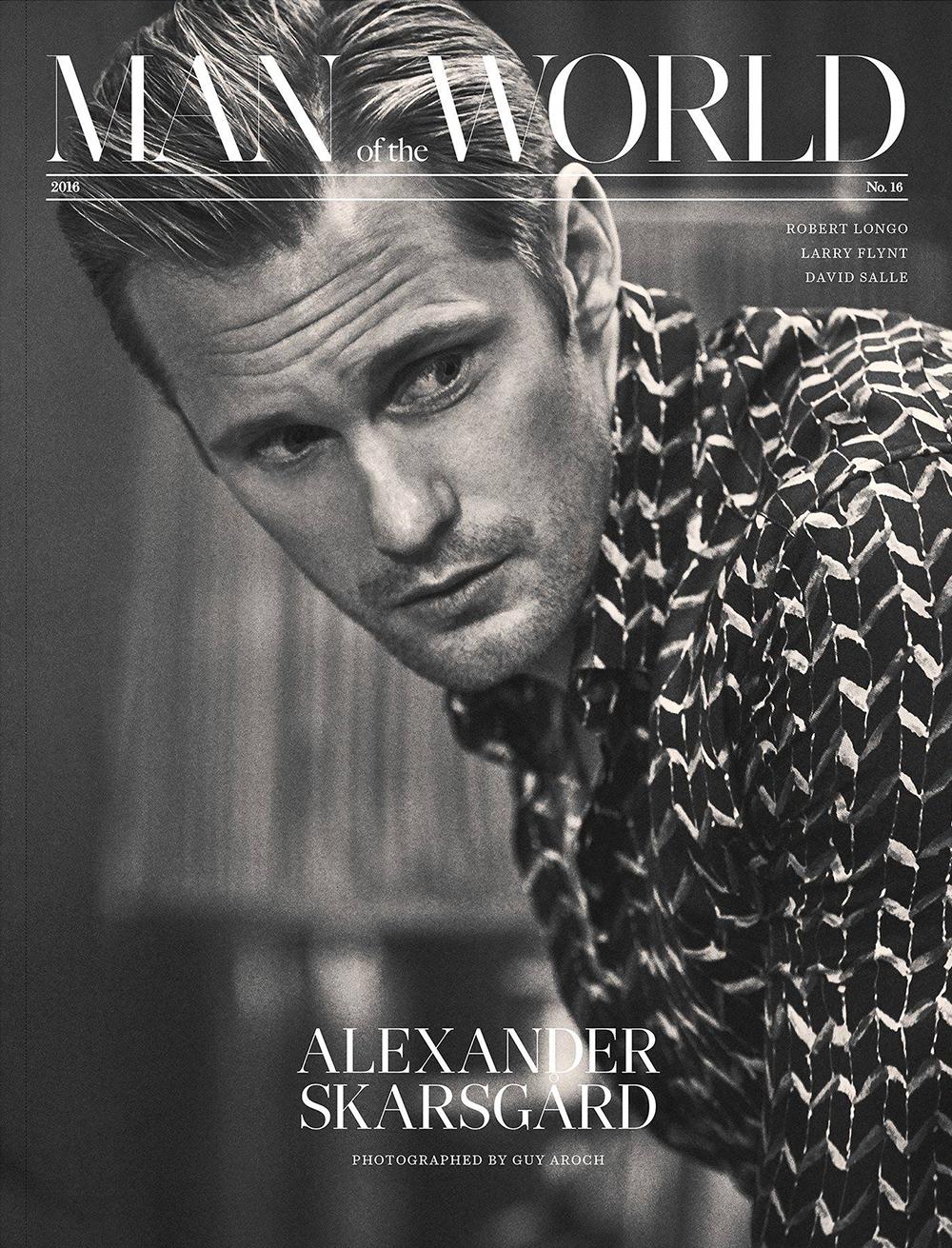 Alexander Skarsgård by Guy Aroch for Man of the World #16