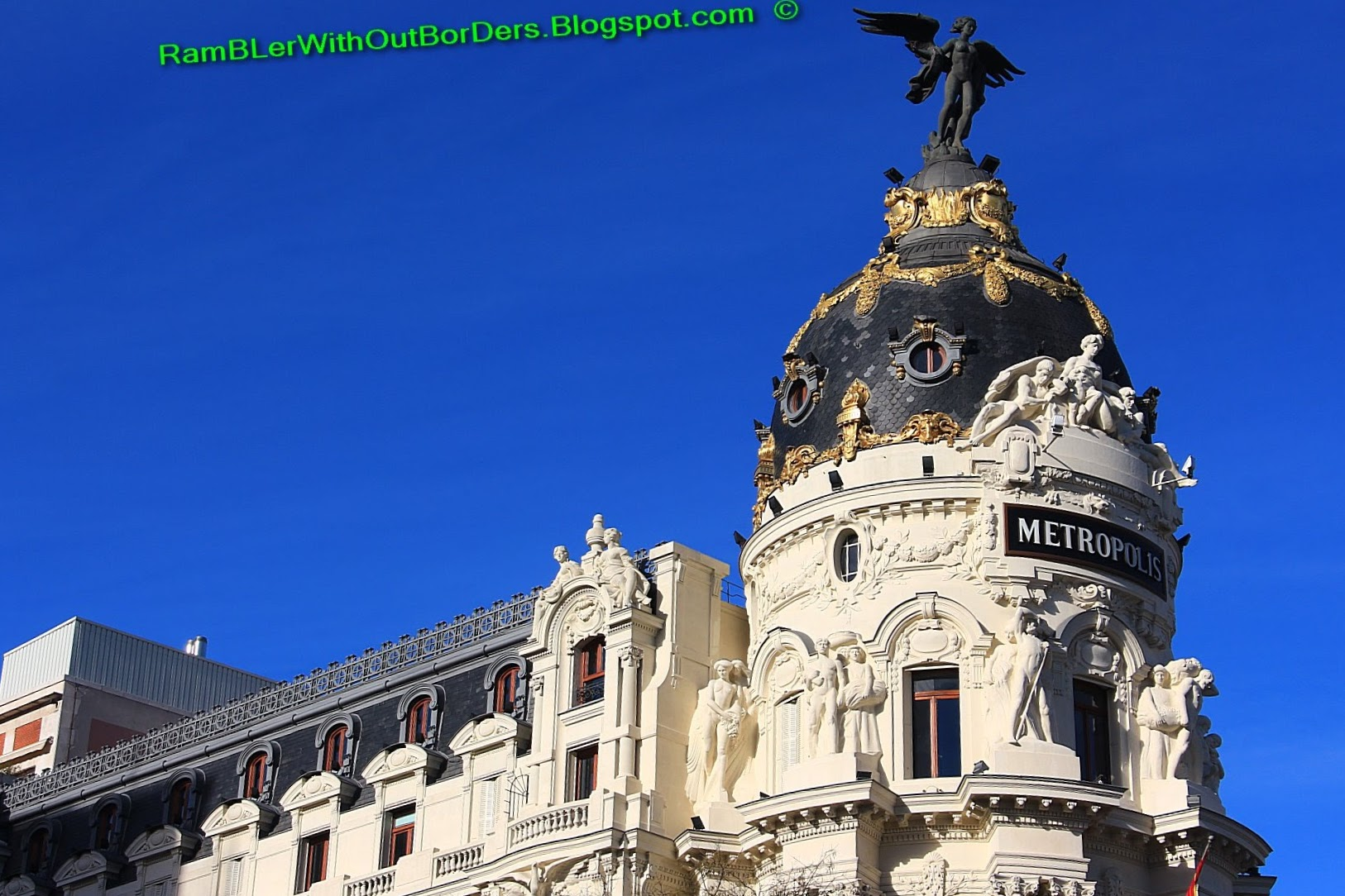 Metropolis Building, Calle de Alcala, Madrid, Spain