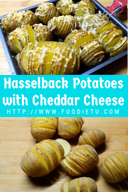 Hasselback Potatoes with Cheddar Cheese
