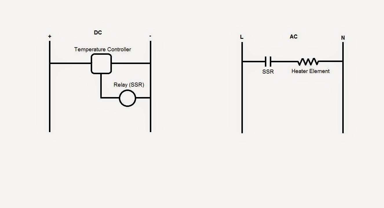 Rosedis Blog Pengawal Suhu Temperature Controller Solid State Relay Adalah Berikut Litar Ladder Dan Cara Sambungan Pada Ssr