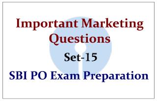 Important Marketing Questions- Set 15