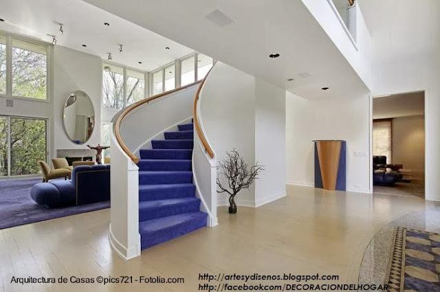 Dise o de escaleras interiores viviendas for Diseno de pisos interiores