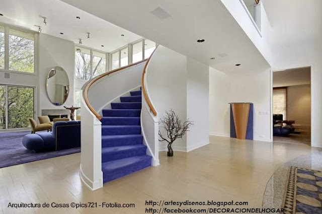 Dise o de escaleras interiores viviendas Disenos de pisos para interiores