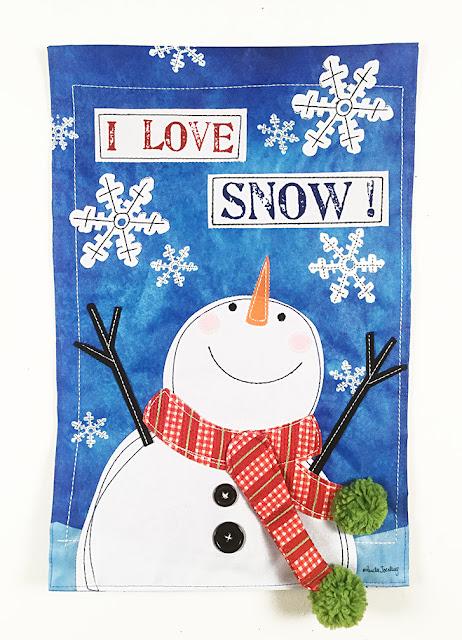 Snowman flag