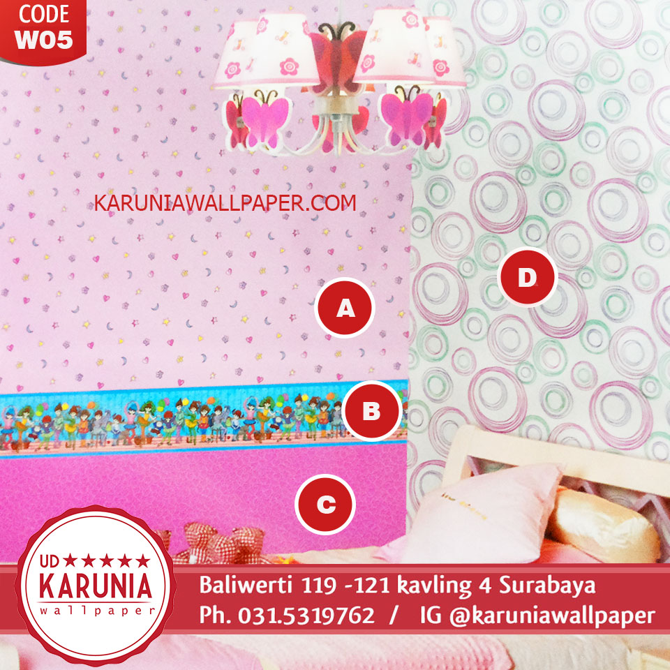 wallpaper dinding pink barbie jual surabaya