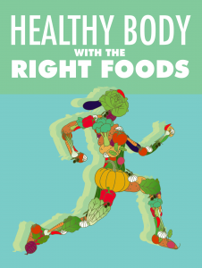 """Health ebook """"Healthy Body with The Right Foods Free Download PDF Book"""