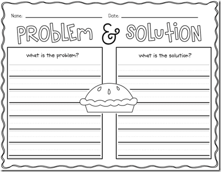Problem and solution essay graphic organizer - College paper