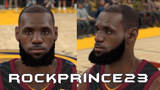 NBA 2K18 LeBron James Cyberface