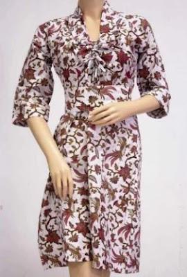 Baju kemeja batik untuk wanita gemuk cantik