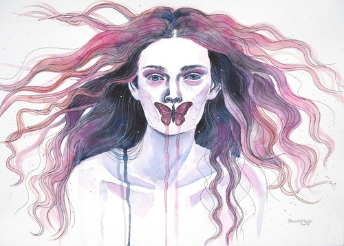 11-I-do-not-Speak-Erica-Dal-Maso-Expressing-Emotions-Through-Watercolor-Paintings-www-designstack-co