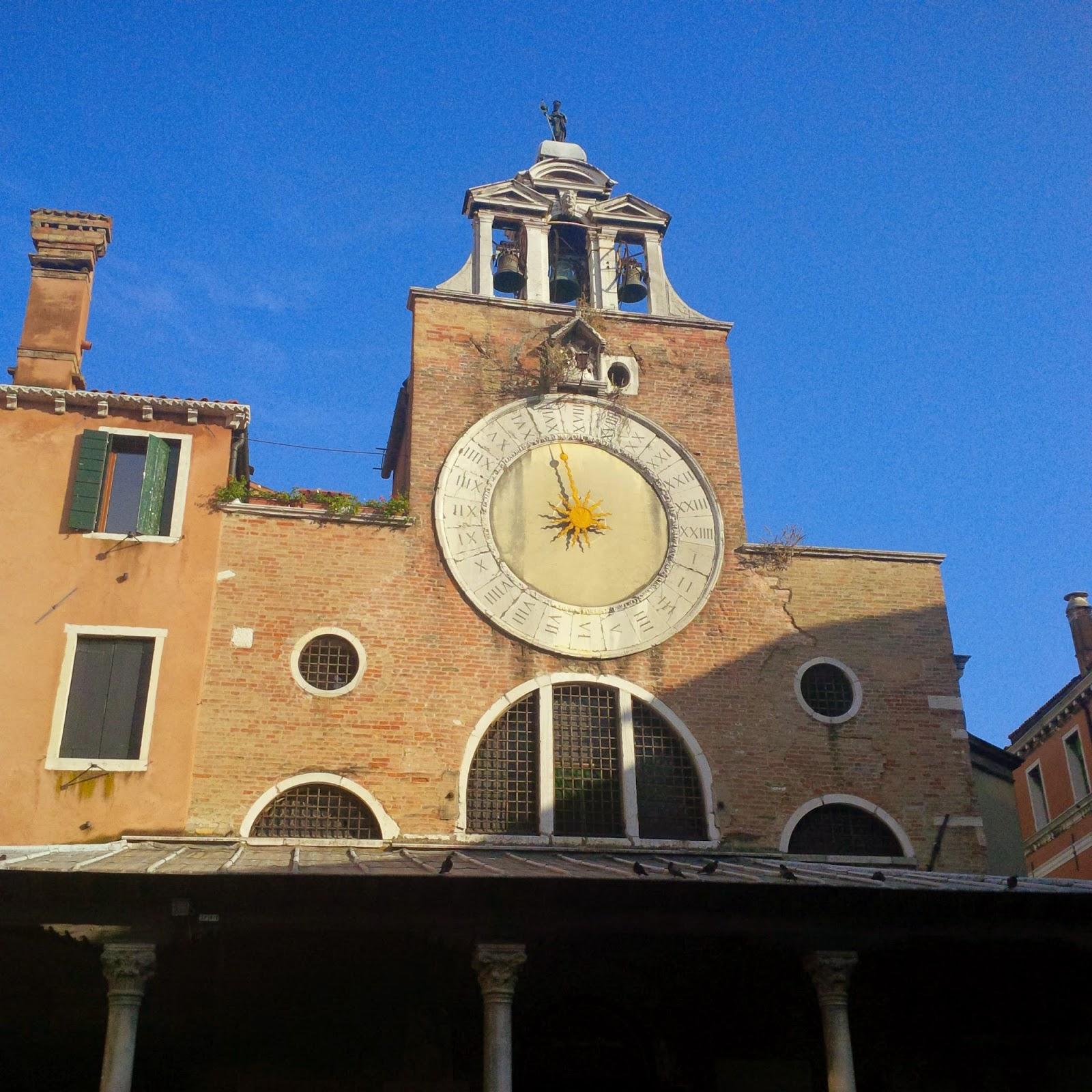 A clock in Venice
