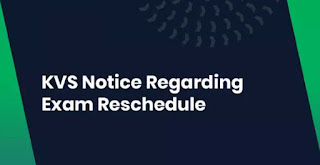KVS Notice Regarding Exam Reschedule