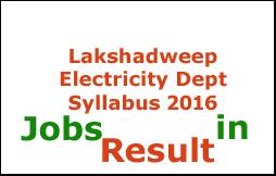 Lakshadweep Electricity Dept Syllabus 2016