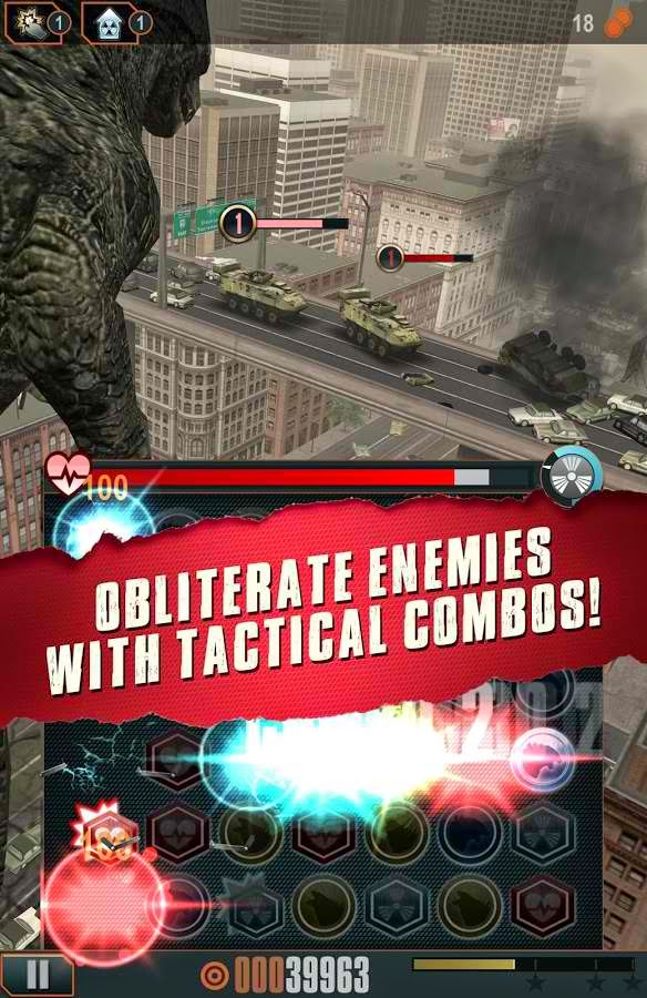 Godzilla Smash MOD APK V Mod Everything Unlocked