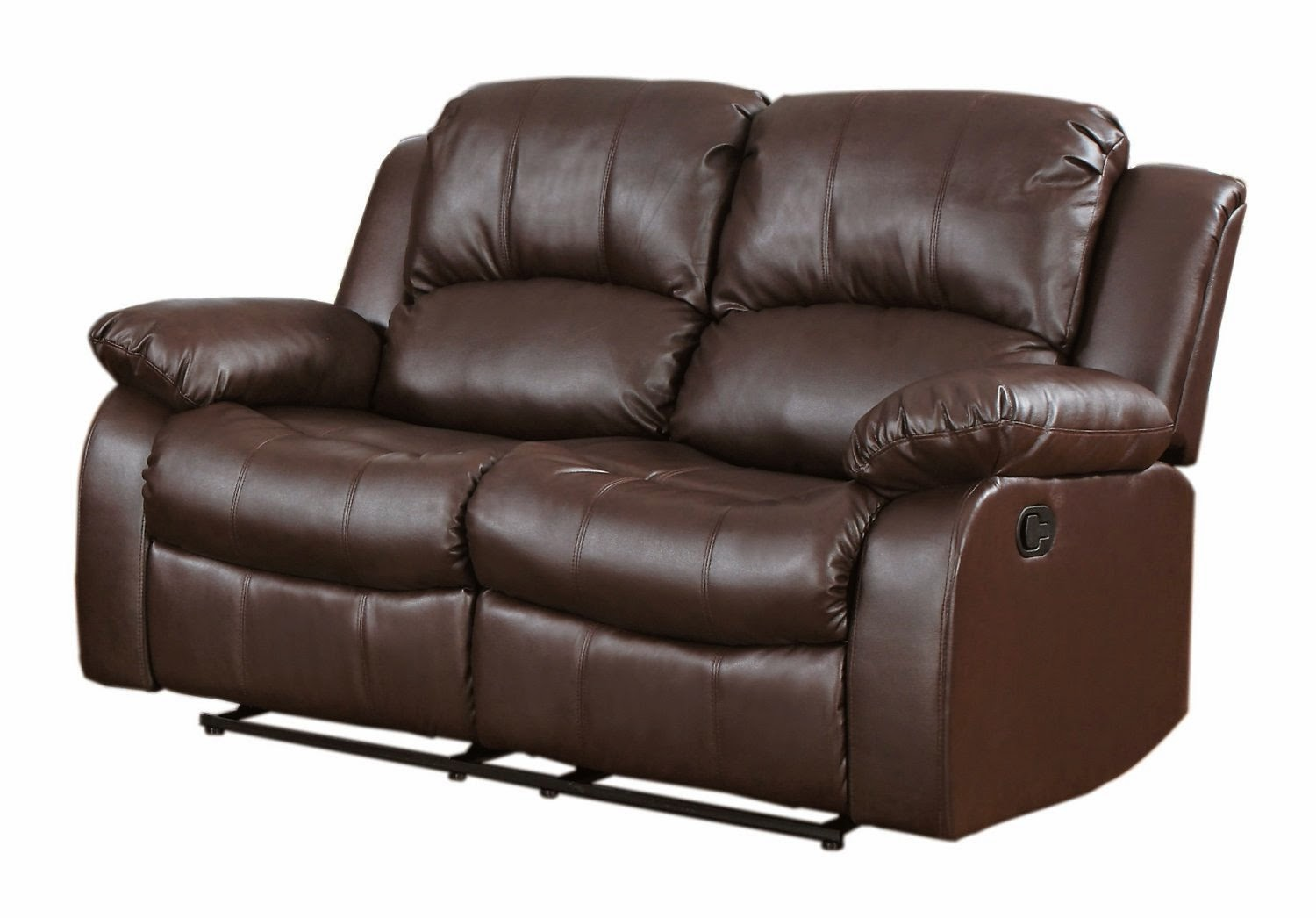 Reclining sofa loveseat and chair sets two seat reclining for Leather sofa and loveseat set