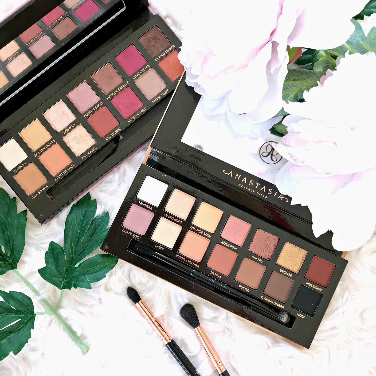 Soft Glam palette vs Modern Renaissance palette