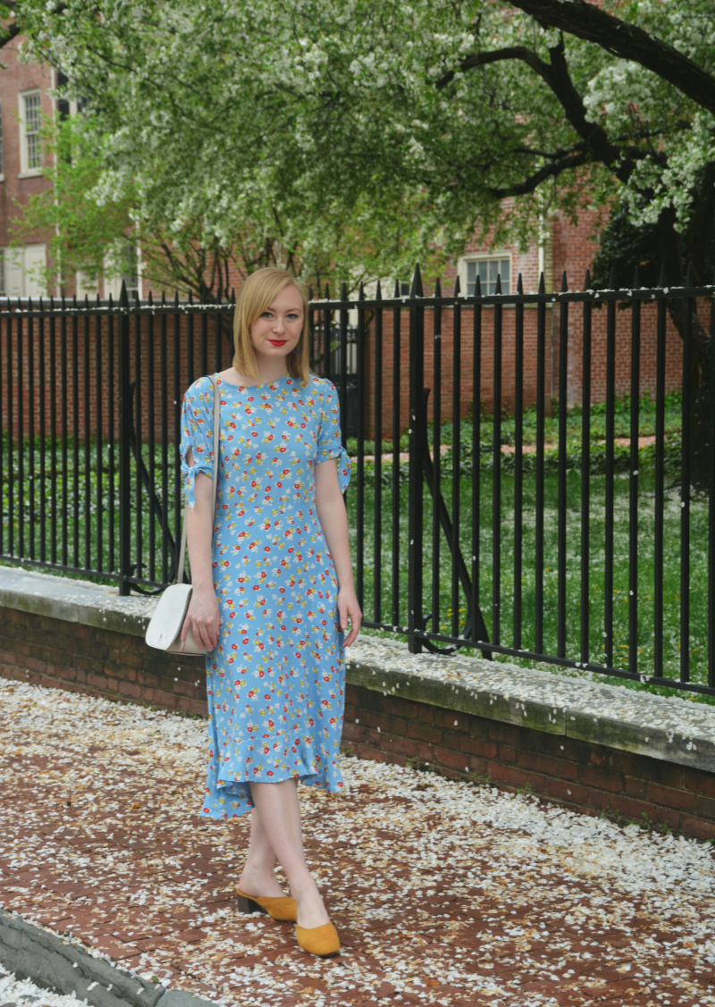 Floral Midi Dress   Organized Mess