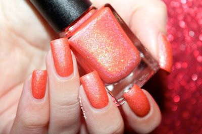 "Swatch of the nail polish ""Nice Melons"" fom CBL"