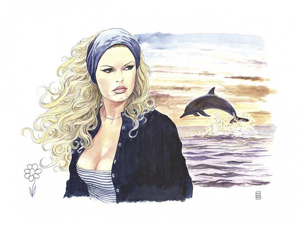 Brigitte Bardot según Milo Manara