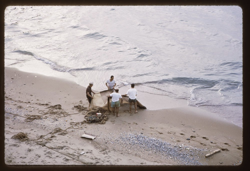 Fishers and net, Beirut; May 4 1965