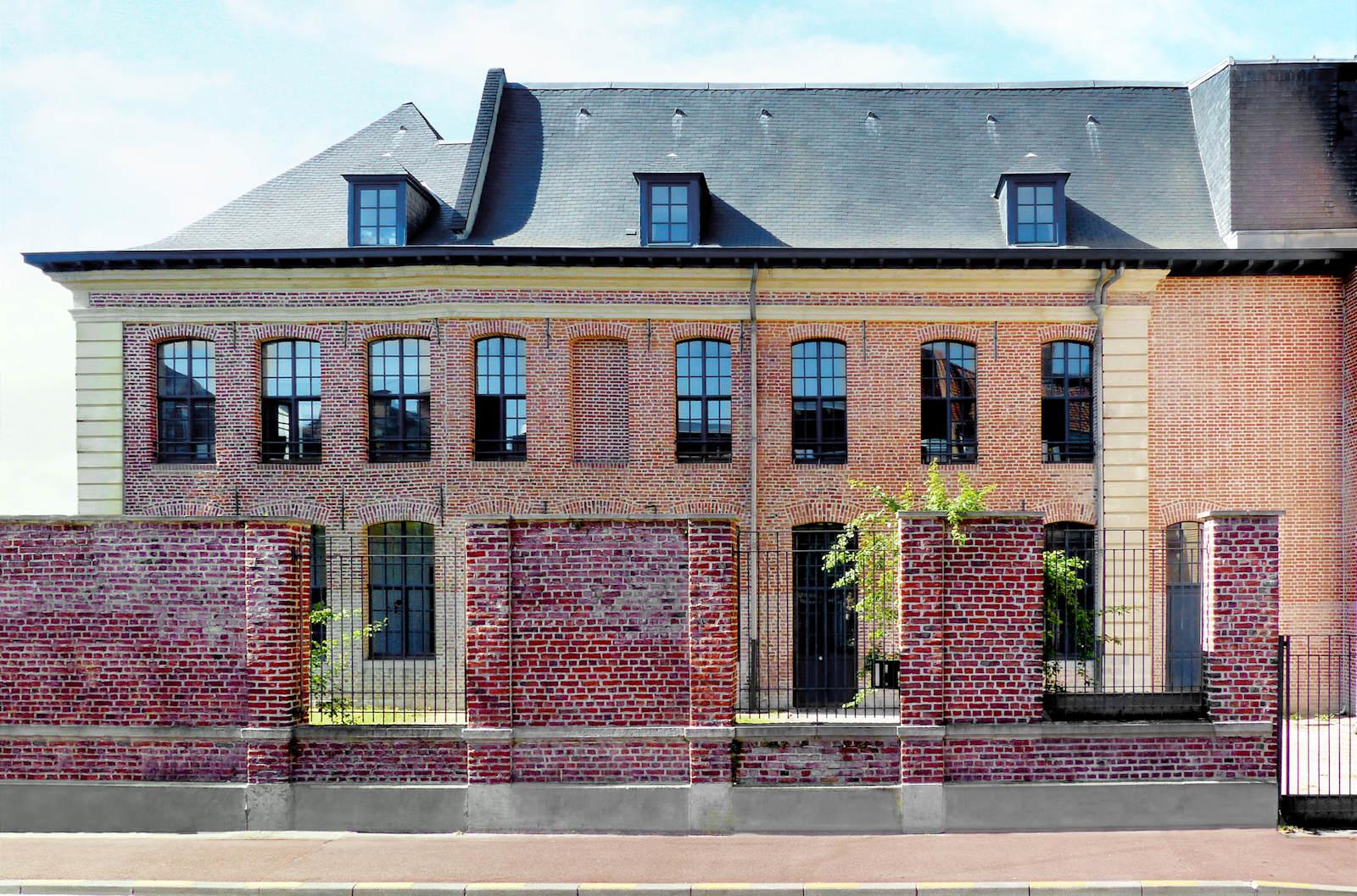 Rédectoire de l'Hospice d'Havré (vue extérieure rue de Tournai, Tourcoing)