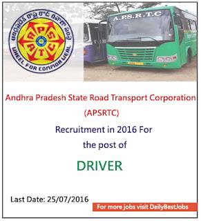 APSRTC Job