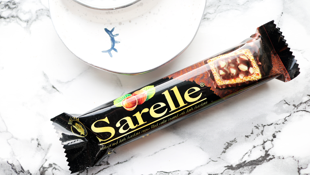 Sarelle Hazelnut & Dark Chocolate Wafer Bar