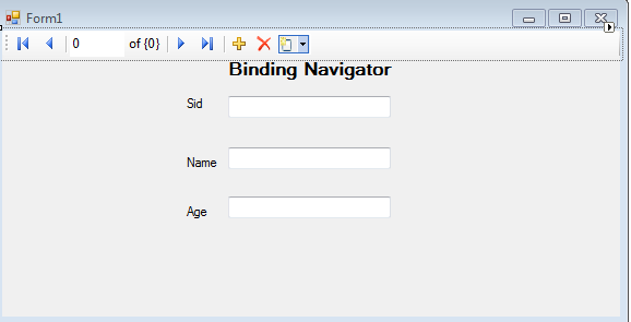 How to Use BindingNavigator control in Windows Forms Application