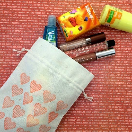 DIY Craft: Rubber Stamped Fabric Bag
