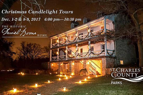 Christmas Candlelight Tours Daniel Boone Home